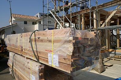 0223上棟_国産材木が使われています