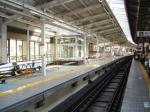 工事中の京急横浜駅1番線ホーム