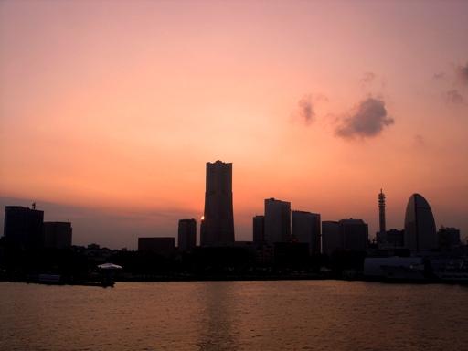 大桟橋夕景2006年9月