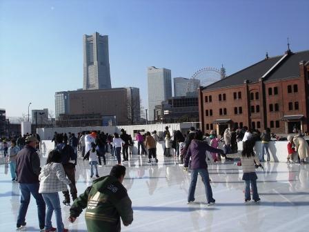 みなとみらい赤レンガ倉庫アイススケート