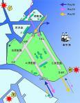 羽田空港 離着陸ルート図