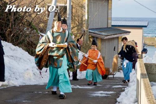清部八幡神社 正月 門祓い行列