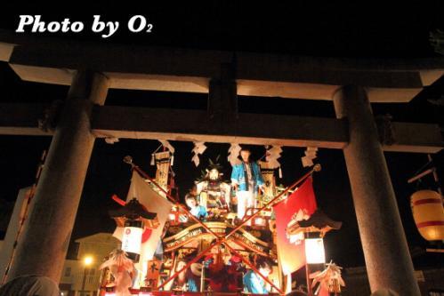 神社に到着する先山