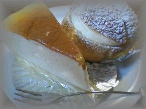 *チーズケーキ&シュークリーム*