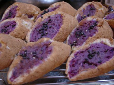 紫芋のシナモンポテト