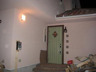 0224夜の玄関