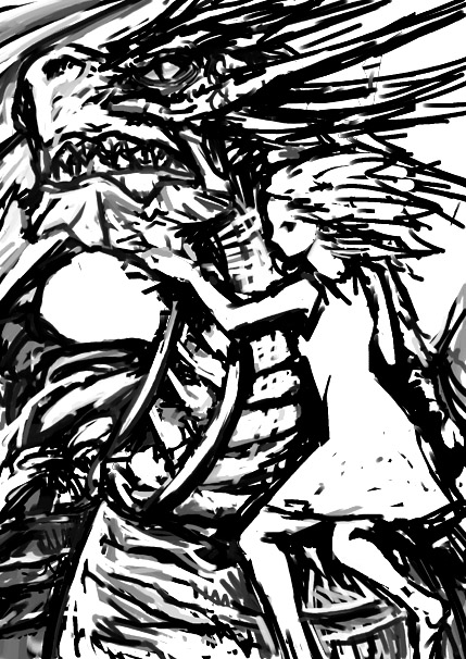 ドラゴンと女