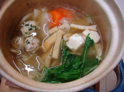 ニラ団子鍋1
