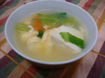 ちんげんさいのスープ