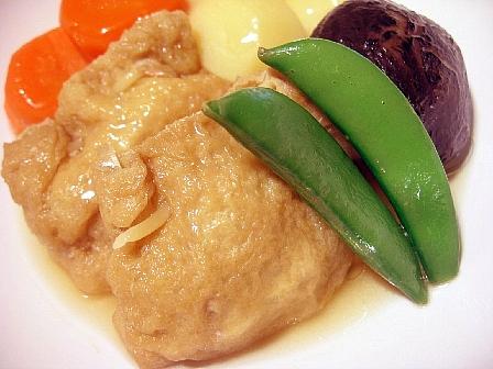 ツナ巾着と野菜の含め煮