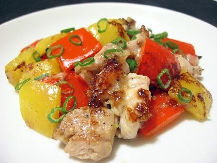 鶏肉とパプリカのねぎ塩ダレ焼