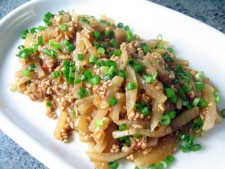 大根と豚ひき肉の中華炒め煮