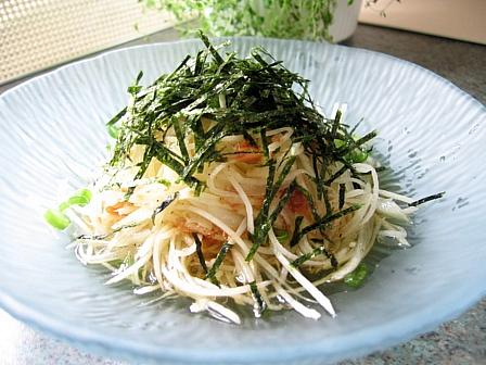 シャキシャキじゃがいもの海苔サラダ★おかかドレッシング