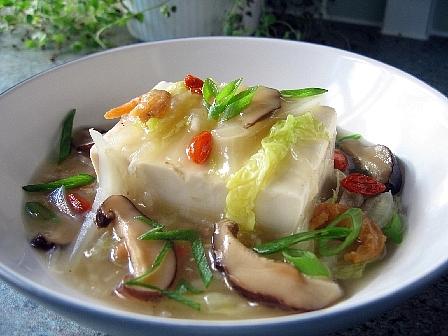 豆腐の中華風野菜あんかけ