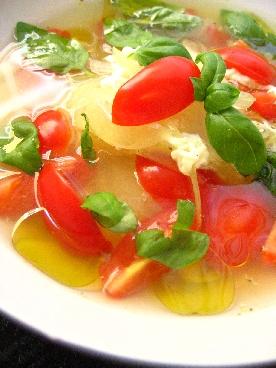 簡単トマトのさっぱりスープ