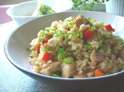 ニンニク醤油鶏ご飯