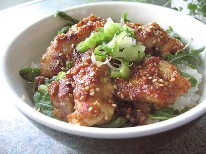 鶏のゴマ味噌焼