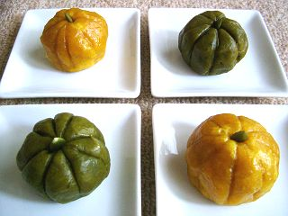 見た目もそっくり★かぼちゃ饅頭①