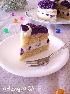 紫芋のモンブランケーキ