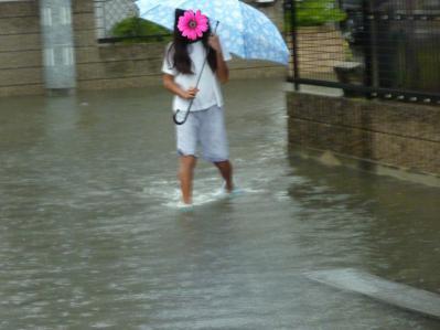 台風12号と家の前3