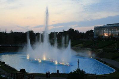 フラワーパークの噴水