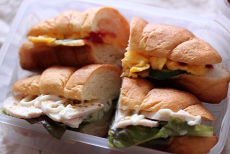 鶏ハム&卵サンド