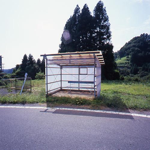 明るいバス停