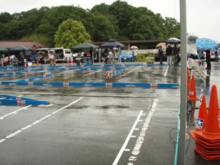 レース雨で中止