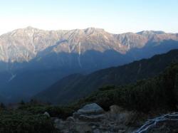朝の笠ヶ岳
