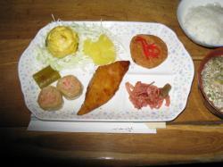 西穂 夕食