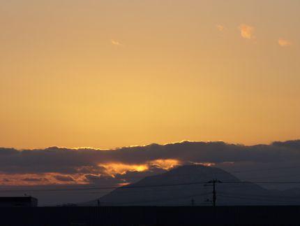 函館の夕暮れ