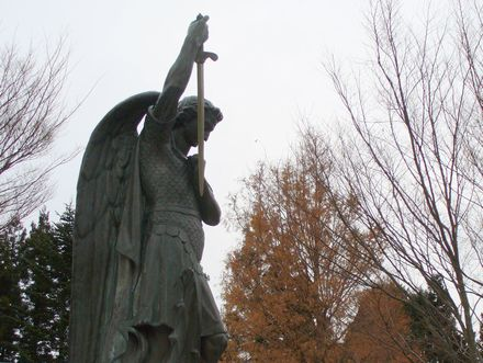 メタセコイアと聖ミカエル