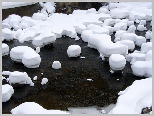 定山渓温泉の雪景色7