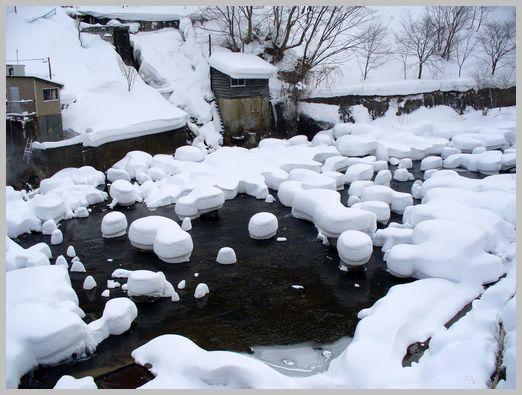 定山渓温泉の雪景色6