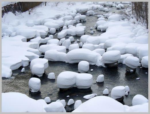 定山渓温泉の雪景色4