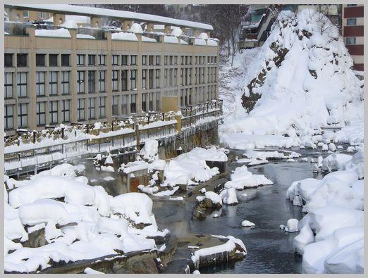 定山渓温泉の大浴場