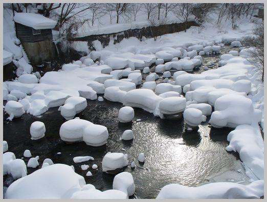 定山渓温泉の雪景色2