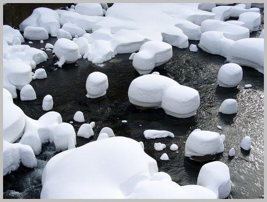 定山渓温泉の雪景色3