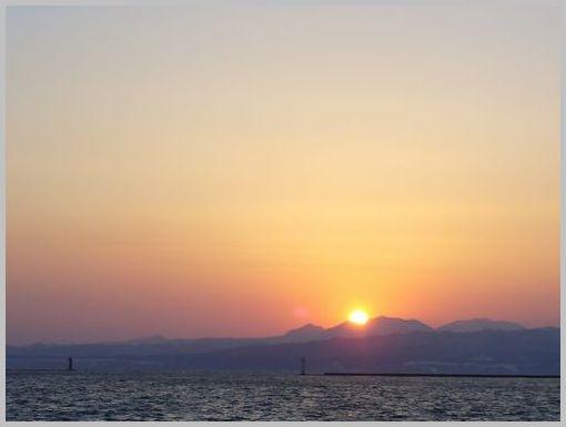 埠頭の夕焼け1