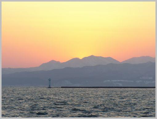 埠頭の夕焼け2