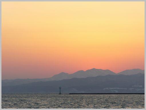 埠頭の夕焼け3