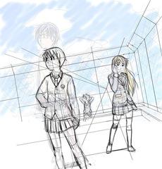【図】下描き│12ヶ月連続イラスト3枚目