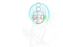 【図】顔の比率設計図│12ヶ月連続イラスト4枚目