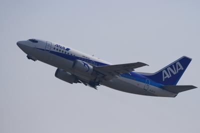 ANA(AirNext) B737-581 NH513@猪名川西側土手(伊丹工業団地付近)