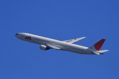 JAL B777-346 JL2081@大鹿TSUTAYA駐車場(by EF100-400)