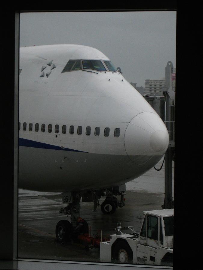 ANA B747-481D ANA428@福岡空港7番搭乗口付近(by IXY DIGITAL 910IS)