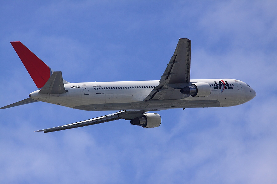 JAL B767-346 JAL112@エアフロントオアシス下河原(by EOS 50D with SIGMA APO 300mm F2.8 EX DG/HSM)