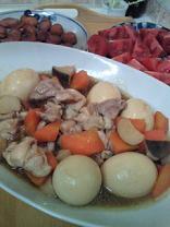鶏肉とゆで卵煮