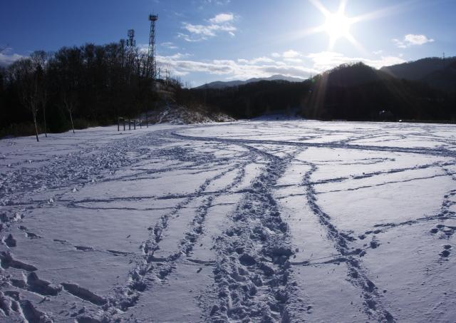冬の公園広場