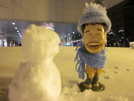 雪だるまとマッキーちゃん